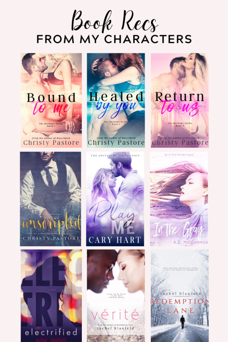 Romance Books recommended in Fabiola Francisco's novels.